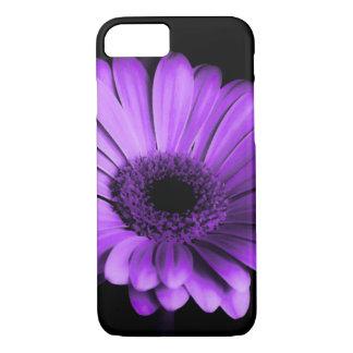 夜の紫色のガーベラのデイジーのiPhoneの箱 iPhone 8/7ケース