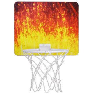 夜の美しい火山爆発 ミニバスケットボールネット
