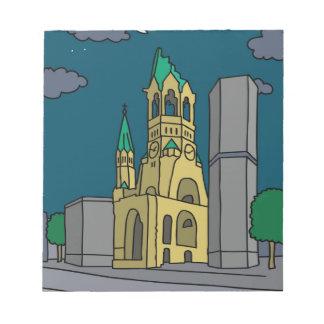 夜の記念教会ベルリン(Gedächtniskirche) ノートパッド