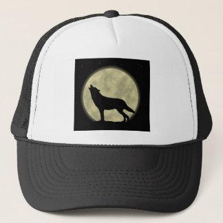 夜の遠ぼえのオオカミ キャップ