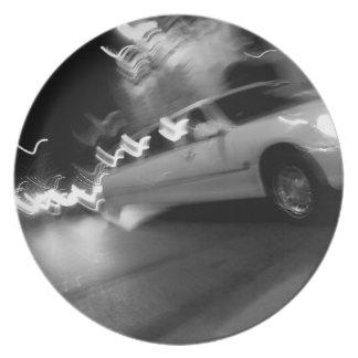 夜の都市リムジン プレート