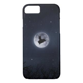 夜の飛んでいるなブタのiPhoneの場合 iPhone 8/7ケース