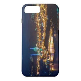 夜の香港港のスカイラインライト iPhone 8 PLUS/7 PLUSケース