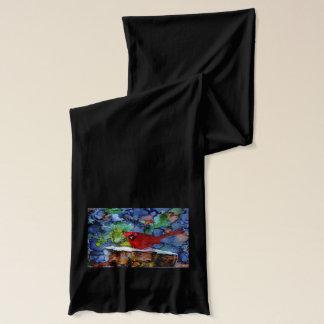夜の(鳥)ショウジョウコウカンチョウ スカーフ