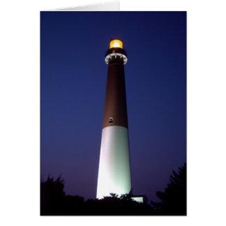 夜のBarnegatの灯台 カード