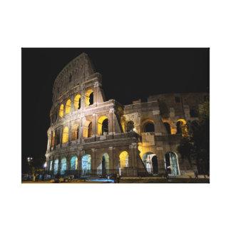 夜のColosseum キャンバスプリント