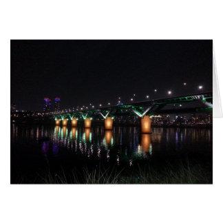 夜のHan川上の橋 カード