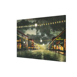 夜のHewittの道の眺め キャンバスプリント