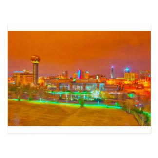 夜のknoxville TN ポストカード
