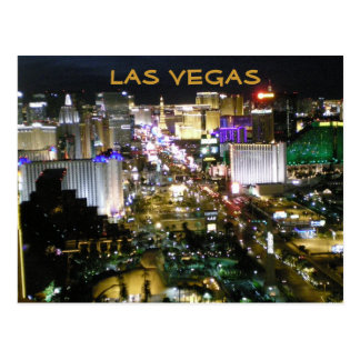 夜のLas Vegas Boulevard ポストカード