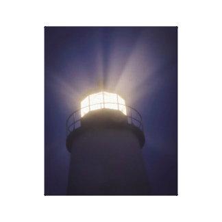 夜のPemaquidの灯台 キャンバスプリント