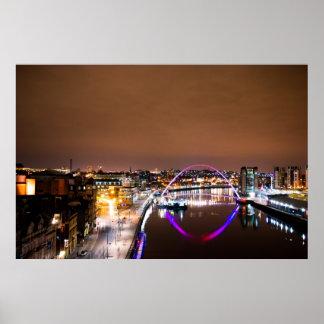 夜のRiver Tyne ポスター