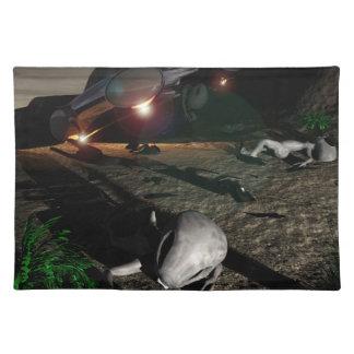 夜のRoswell UFOの衝突 ランチョンマット