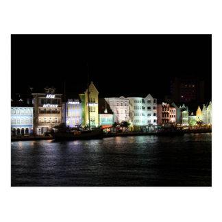 夜のWillemstadクラサオ島 ポストカード