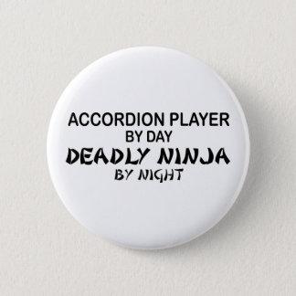 夜までにアコーディオンの致命的な忍者 5.7CM 丸型バッジ