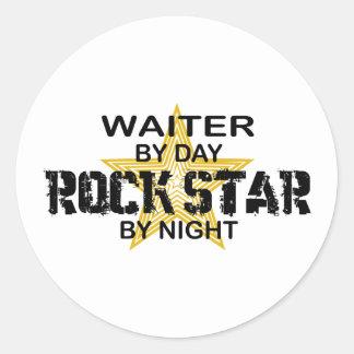 夜までにウェイターのロックスター ラウンドシール