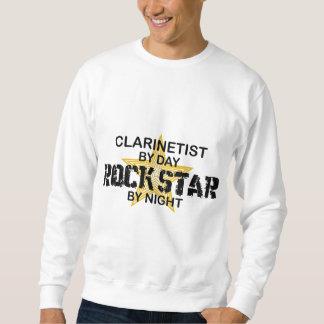 夜までにクラリネット奏者のロックスター スウェットシャツ