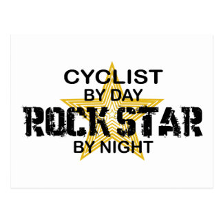 夜までにサイクリストのロックスター ポストカード