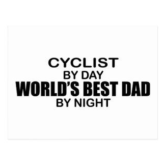 夜までにサイクリストの世界で最も最高のなパパ ポストカード