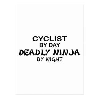 夜までにサイクリストの致命的な忍者 ポストカード