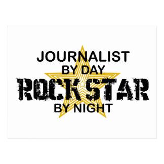 夜までにジャーナリストのロックスター ポストカード