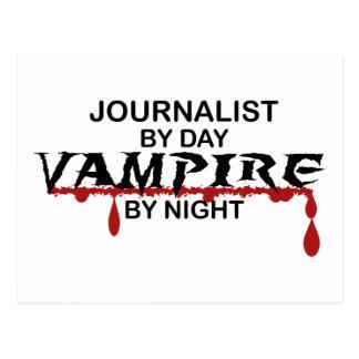 夜までにジャーナリストの吸血鬼 ポストカード
