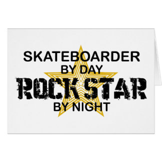 夜までにスケートボーダーのロックスター カード