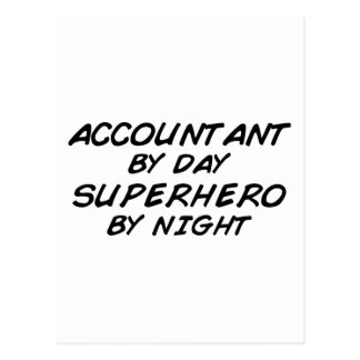 夜までにスーパーヒーロー-会計士 ポストカード