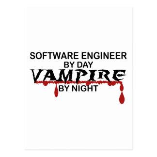 夜までにソフトウェアエンジニアの吸血鬼 ポストカード