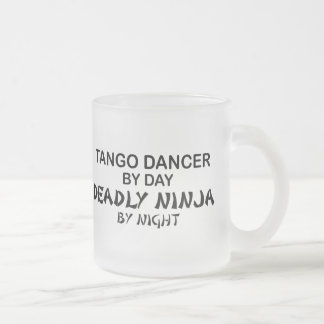 夜までにタンゴの致命的な忍者 フロストグラスマグカップ