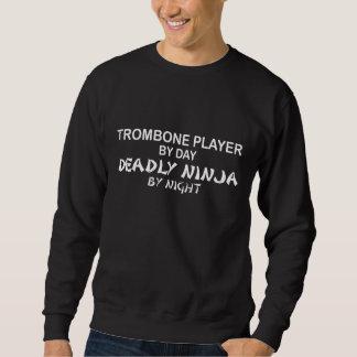 夜までにトロンボーンの致命的な忍者 スウェットシャツ
