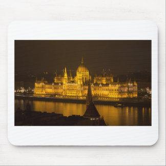 夜までにハンガリーの議会ブダペスト マウスパッド