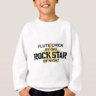 夜までにフルートのひよこのロックスター スウェットシャツ