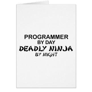 夜までにプログラマー致命的な忍者 グリーティングカード