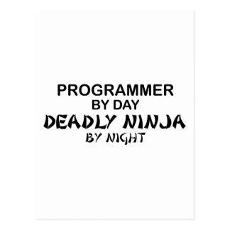夜までにプログラマー致命的な忍者 ポストカード