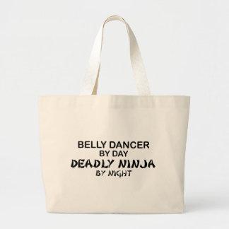 夜までにベリーダンサーの致命的な忍者 ラージトートバッグ
