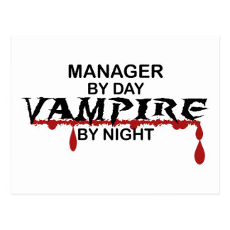 夜までにマネージャーの吸血鬼 ポストカード