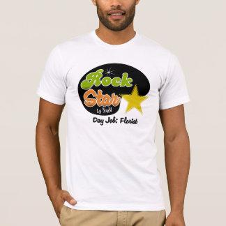 夜までにロックスター-日の仕事の花屋 Tシャツ