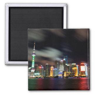 夜までに上海のスカイライン マグネット