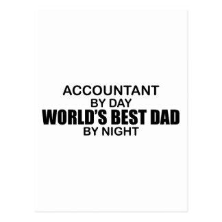 夜までに世界で最も最高のなパパ-会計士 ポストカード