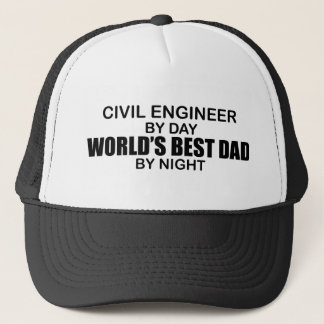 夜までに世界で最も最高のなパパ-土木技師 キャップ