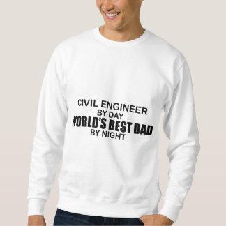 夜までに世界で最も最高のなパパ-土木技師 スウェットシャツ