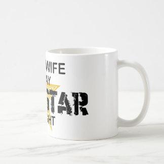 夜までに主婦のロックスター コーヒーマグカップ