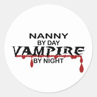 夜までに乳母の吸血鬼 ラウンドシール