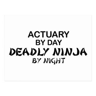 夜までに保険計理人の致命的な忍者 ポストカード