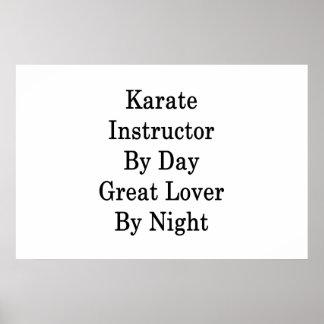 夜までに日のすばらしい恋人による空手のインストラクター ポスター
