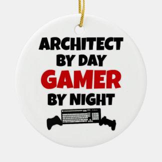 夜までに日のゲーマーによる建築家 セラミックオーナメント