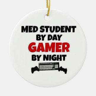 夜までに日のゲーマーによるMed学生 セラミックオーナメント
