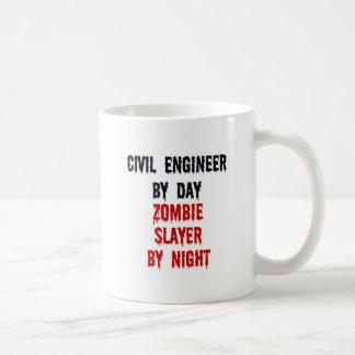 夜までに日のゾンビの殺害者による土木技師 コーヒーマグカップ