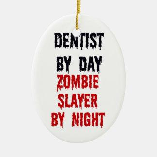 夜までに日のゾンビの殺害者による歯科医 セラミックオーナメント